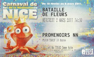 The flower parade ticket 2011