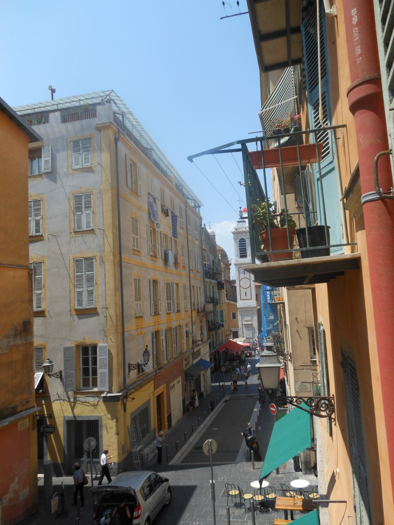 View from hostel's window down to Place Rosetti