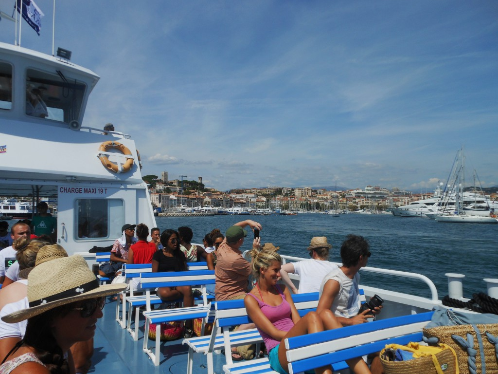 Boat to go to the Iles de Lérins